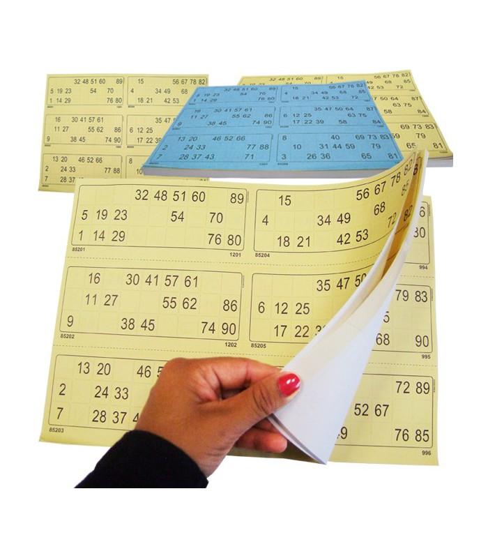 100 fogli di 6 cartelle pretagliate for Cartelle tombola per anziani