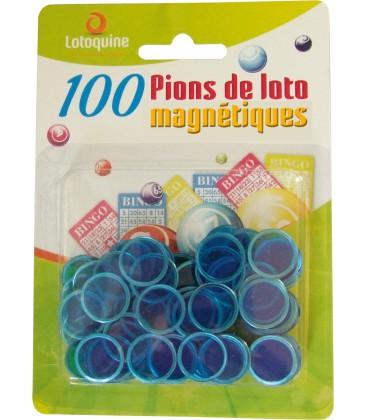 100 coprinumero magnetici blu