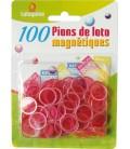 100 coprinumero magnetici fucsia