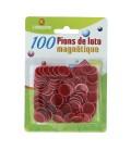 100 coprinumero magnetici rosso
