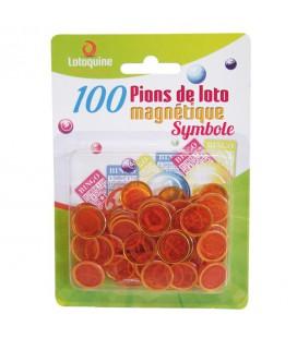 5 blister 100 coprinumero magnetici con simboli