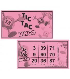 500 biglietti di Tic-Tac Bingo rosa