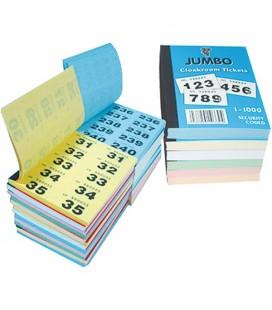 Biglietti Guardaroba e lotteria Jumbo, 1-1000