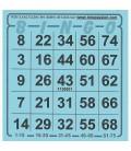 1.008 biglietti Bingo americano individuali 75 numeri