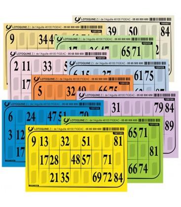 1 Serie da 1000 cartelle di Tombola - Cartone 1 mm