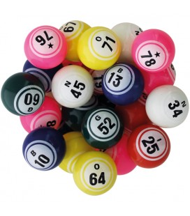 90 palline da bingo Ø 38 mm