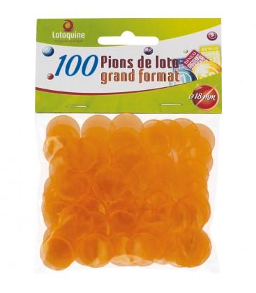 100 coprinumero trasparenti 18 mm di diametro