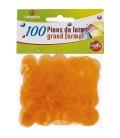 10 Sacchetti da 100 coprinumero trasparenti 18 mm di diametro