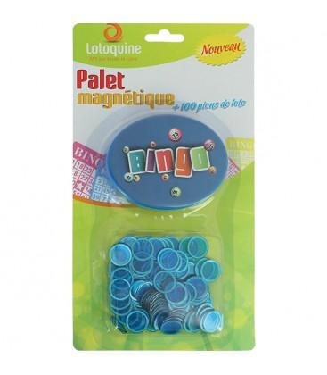 Disco magnetico Bingo blu + 100 coprinumero