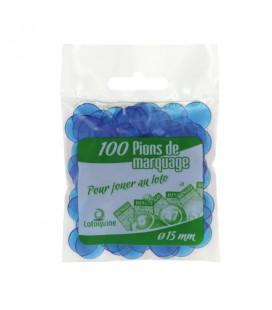 10 Sacchetti da 100 coprinumero trasparenti 15 mm di diametro