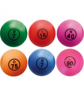 Pallina numerata 6 colori disponibili