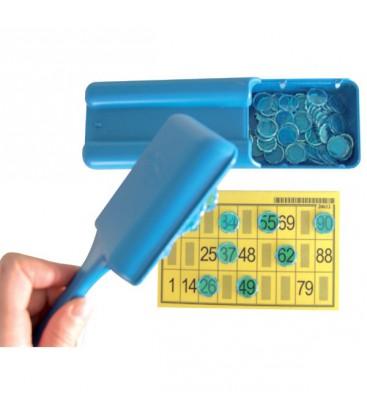 1 scatola magnetica + 100 pedine aperta